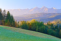 Dawn Over The High Tatra Mountains. Carpathians, P Royalty Free Stock Images - 34498069