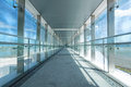 Glass Corridor In Office Centre Stock Images - 34498564