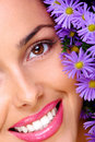 Woman With Flowers Stock Photos - 3453153