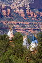 Tipi And Red Rocks Royalty Free Stock Photography - 3454437