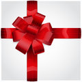 Red Bow Of Striped Ribbon Stock Photography - 34503922
