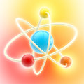 Atom Glossy And Colorful Symbol Stock Photography - 34504782
