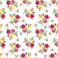 Seamless Pattern With Red And Yellow Roses. Stock Images - 34516714