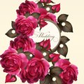 Wedding Invitation Card With Roses Stock Photo - 34517660