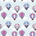 Seamless Pattern With Hot Air Balloons Royalty Free Stock Images - 34527339
