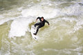 Surfer Surfs At The Isar In Huge Stock Image - 34531761