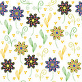 Floral Seamless Pattern With Cute Abstract  Flower Royalty Free Stock Photo - 34536445