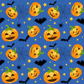 Halloween Pumpkins Seamless Royalty Free Stock Photography - 34542427