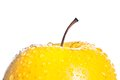 Wet Yellow Delicious Apple With Space For Text Royalty Free Stock Images - 34556249