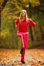 Healthy Lifestyle. Fitness Girl Doing Exercise Outdoor Royalty Free Stock Photo - 34561045