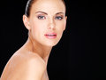 Beautiful  Face Of The Adult Woman With Fresh Skin Stock Images - 34563394
