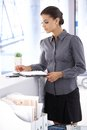 Young Office Worker With Organizer Stock Photography - 34566752