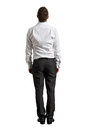 Back View Of Businessman Looking Up Royalty Free Stock Photos - 34571338