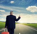 Back View Of Businessman With Suitcase Stock Image - 34571341