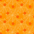Seamless Spiders And Web Cobs Halloween Background Royalty Free Stock Photography - 34573347