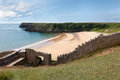 Barafundle Bay, Secluded Beach In Wales Royalty Free Stock Photos - 34575738