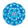 Abstract Sphere Made Of Blue Glossy Cubes Stock Image - 34579271