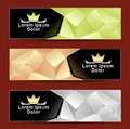 Set Royal Triangle Banners Royalty Free Stock Photography - 34586377