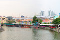 Clarke Quay Is A Historical Riverside Quay In Singapore Stock Image - 34587041