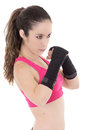 Female Mixed Martial Arts Fighter In MMA Style Royalty Free Stock Image - 34589626