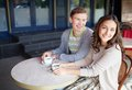 Couple Drinking Coffee Stock Photo - 34591120
