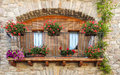 Balcony With Pots Royalty Free Stock Images - 34594199