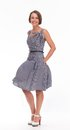 Woman In Summer Dress With Gingham Royalty Free Stock Photography - 34595727