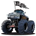 Cartoon Monster Truck Royalty Free Stock Photography - 34599087