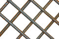 The Lattice Of Reinforcing Steel Rods Royalty Free Stock Photo - 34609645