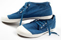 A Pair Of New Blue Shoes Stock Images - 34616314