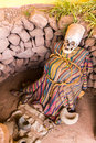 Embalmed Mummy And Skull In Peru Royalty Free Stock Image - 34618416