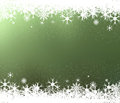 Frame Of Snowflakes On Green Background Stock Photography - 34626032