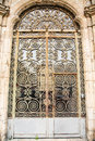 Old Ornate Scrollwork On Door Stock Photo - 34636570