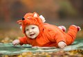 Baby Boy Dressed In Fox Costume Stock Image - 34637011