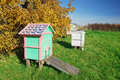 Honey Bee Hives Stock Images - 34643034