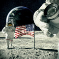 Souvenir  From  Moon 3d Illustration Royalty Free Stock Photos - 34652428