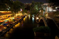 The River Walk At Night Stock Photos - 34658183