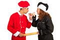 Chefs Couple Arguing Royalty Free Stock Photography - 34664167