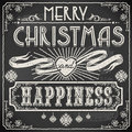 Vintage Merry Christmas Text On A Blackboard Stock Images - 34675954