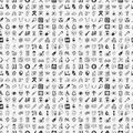 Seamless Doodle Medical Pattern Royalty Free Stock Photography - 34682197