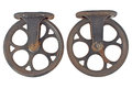 Two Old Rusty Pulley Royalty Free Stock Images - 34684629
