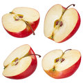 Half Of Red Apple. Collection. With Clipping Path Royalty Free Stock Photos - 34686438