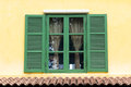 Green Wooden Window Royalty Free Stock Photo - 34692885