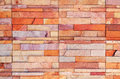 Orange Rock Brick Wall Texture Stock Images - 34693444