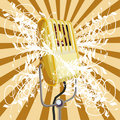 Vector Vintage Microphone Stock Images - 3474084