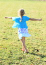 Twisting Little Girl Royalty Free Stock Photo - 34702925