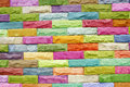 Colorful Stone Block Wall Stock Photos - 34719303