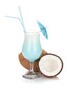 Blue Coconut Cream Cocktail Stock Photos - 34740293
