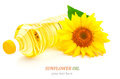 Oil And Sunflower Stock Photography - 34741422