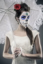 Day Of The Dead Girl Royalty Free Stock Photo - 34743625